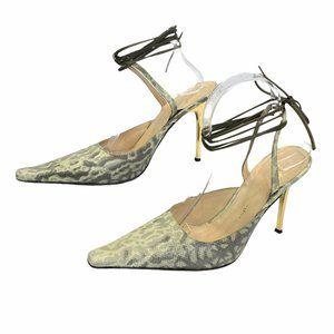 Giuseppe Zanotti Snakeskin Ankle Strap Heels 7/37